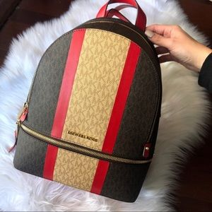 Michael Kors Rhea Colorblock Zip Medium Backpack